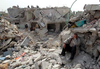 Ruinas en Alepo Siria