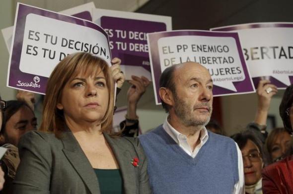 Valenciano y Rubalcaba aborto 2013