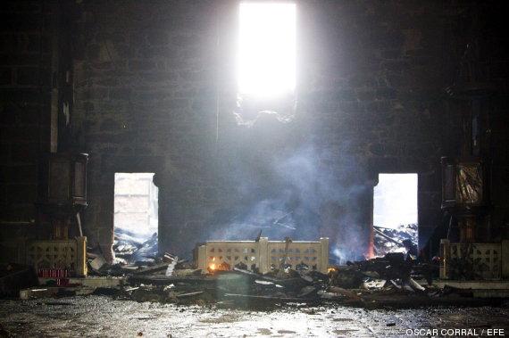 incendio iglesia Muxia