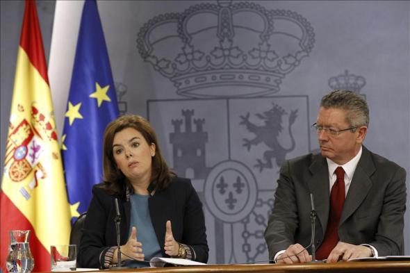 Soraya y Gallardón ministros PP 2013
