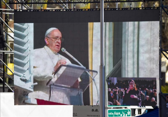 misa familias Madrid 2013 Bergoglio
