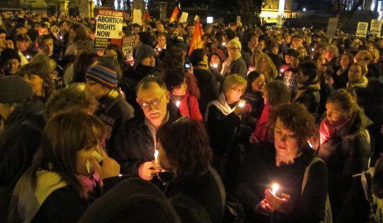 protesta aborto Irlanda 2012