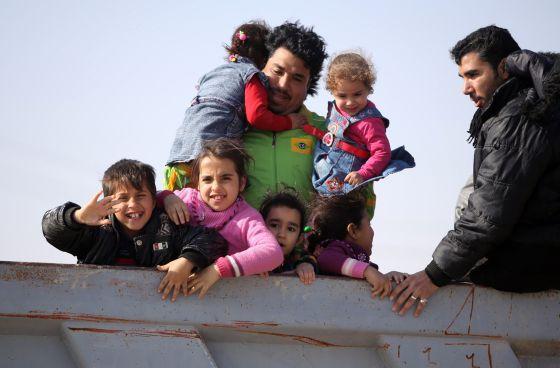 familia refugiados Irak 2014