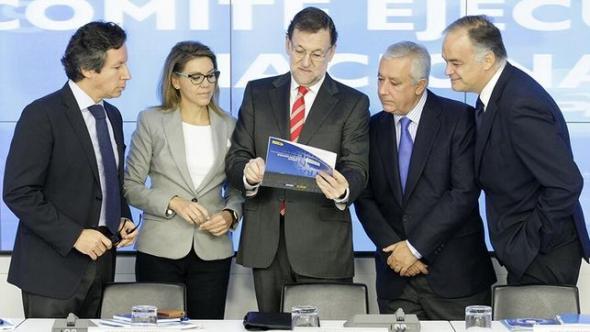 Floriano-Cospedal-Esteban-Gonzalez-Rajoy PP 2014
