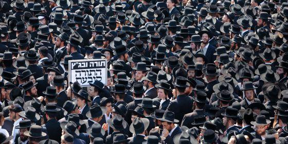 Manifestación ultraortodoxa judía
