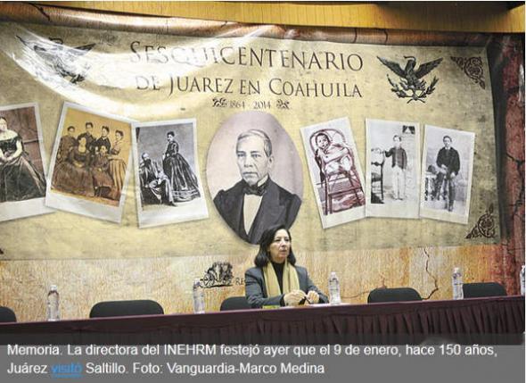 Homenaje a Juarez en Saltillo 2014