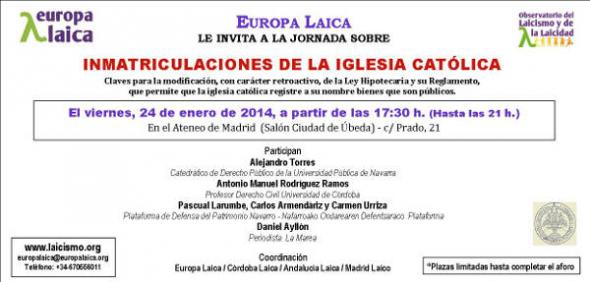 Jornada Inmatriculaciones Madrid 2014