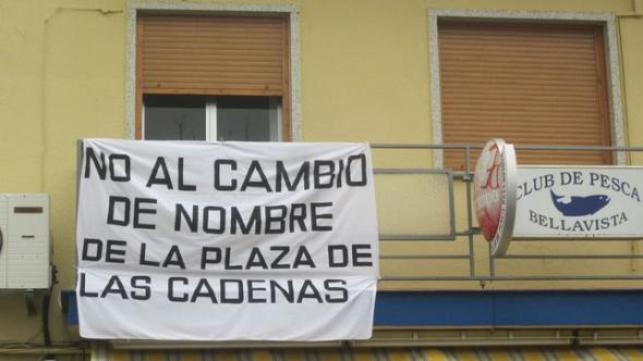 protesta cambio nombre plaza Sevilla 2014