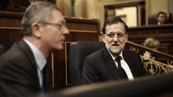 Gallardón y Rajoy PP aborto 2014
