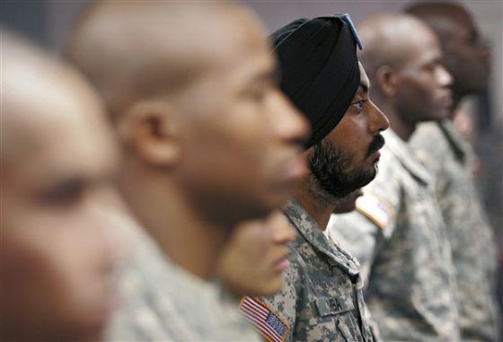 vestimenta militar según creencias USA