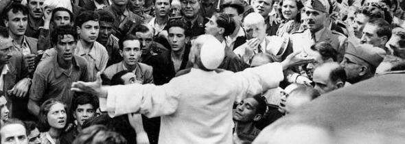 Pio XII visita barrio Roma 1949