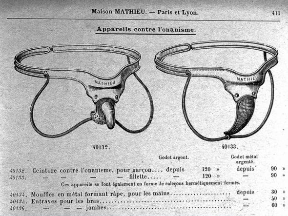 cinturones contra masturbación