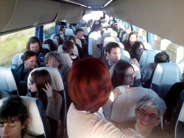 mani aborto tren libertad 2014 Asturias Laica