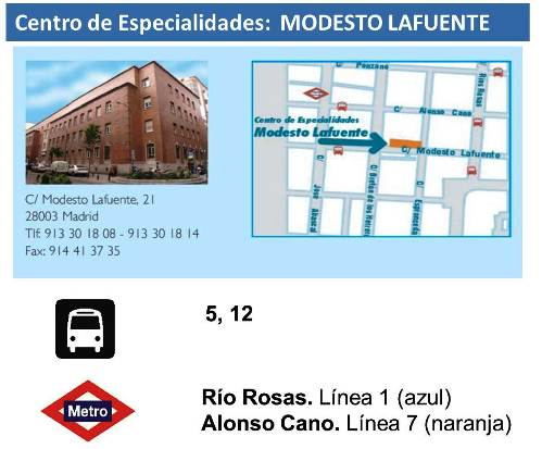 Centro Especialidades Modesto Lafuente