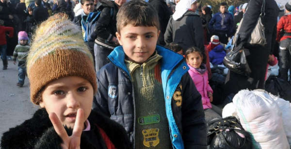 familias refugiadas Siria 2014