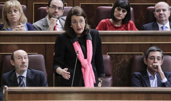 Soraya portavoz PSOE Congreso 2014