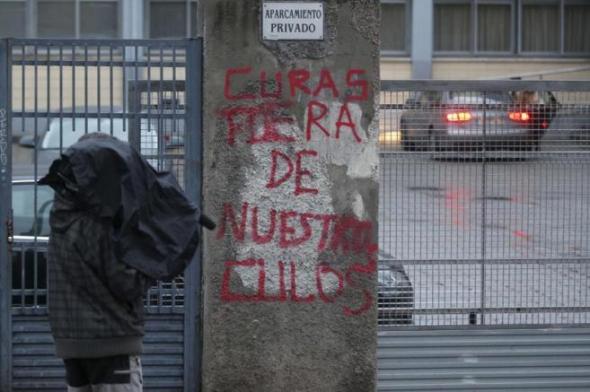 Colegio Valdeluz abusos pintada