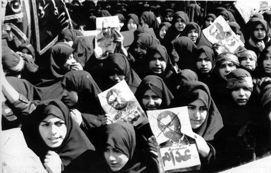 protesta contra Rushdie Irán 1989