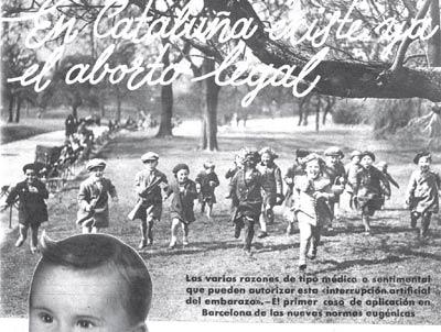 aborto legal Cataluña 1937
