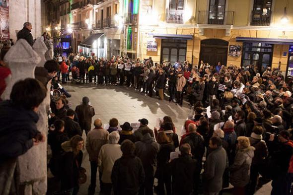 Protesta ascensor Catedral Valladolid