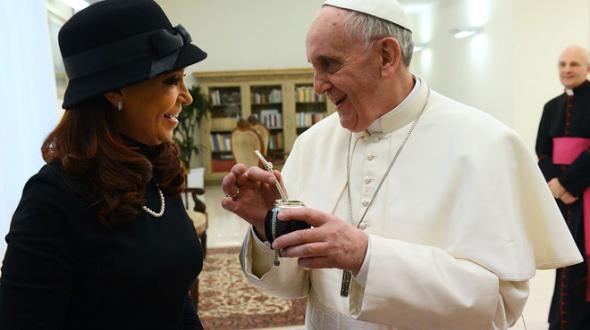 Bergoglio y Cristina