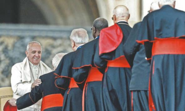 Bergoglio y cardenales