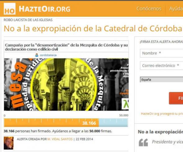 Campaña ultras catedral Córdoba