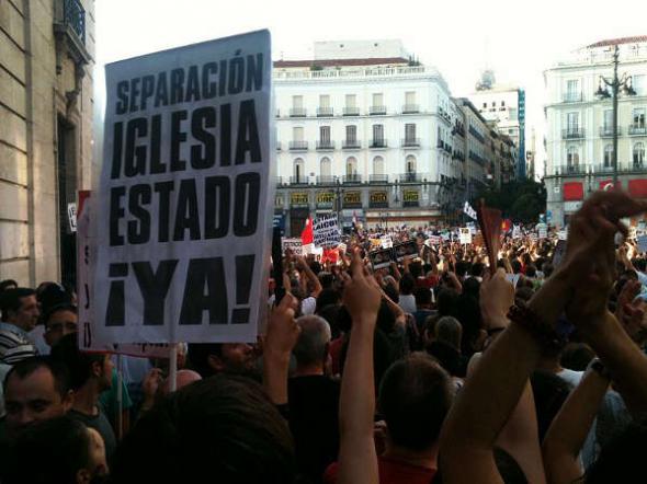 separación iglesias Estado mani Madrid 2011