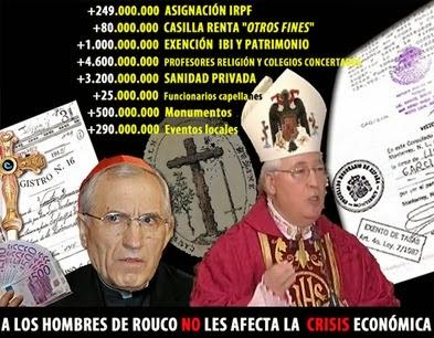 Iglesia crisis económica