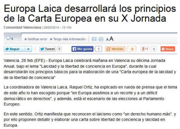 X Jornada Laicista La Vanguardia