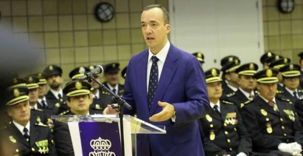 Acto policía en Avila 2014