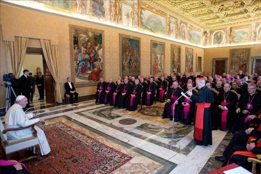 Bergoglio y obispos españoles 2014