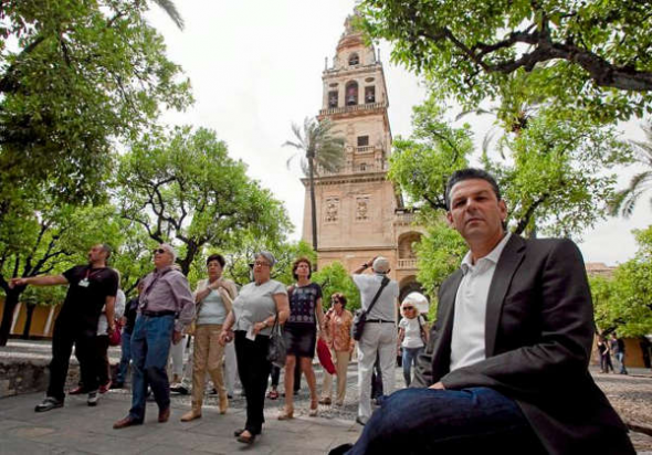 Antonio Manuel Rodríguez en la Mezquita de Córdoba
