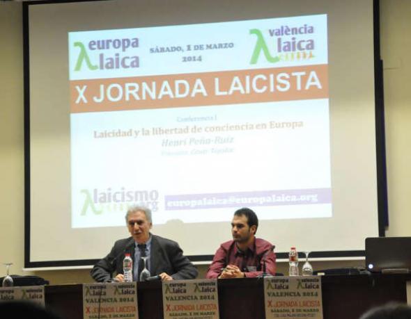 X Jornada Laicista Valencia 2014 Henri y César