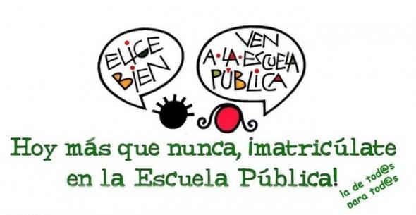 cartel ven escuela pública Valladolid