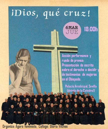 cartel feministas Sevilla 2014