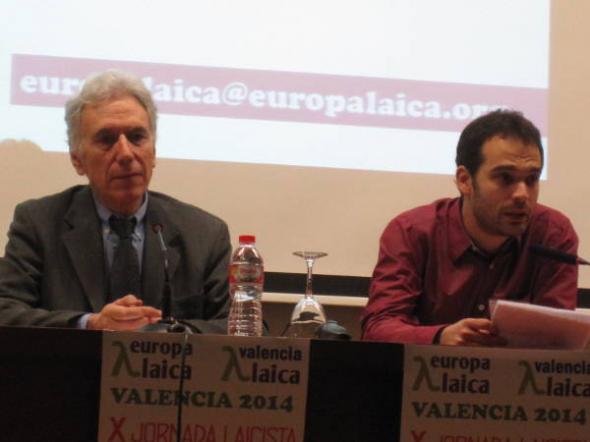 X Jornada Laicista Valencia 2014 Henri P y Cesar