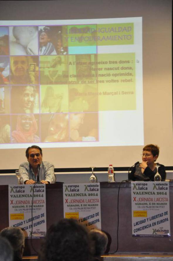 X Jornada Laicista Valencia 2014 MAngeles y Paco Delgado