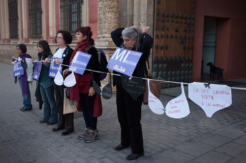 protesta aborto Sevilla 2014