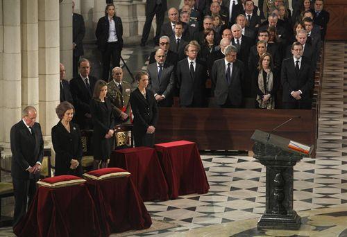 familia real y autoridades funeral 11M 2014