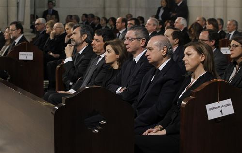 autoridades funeral 11M 2014