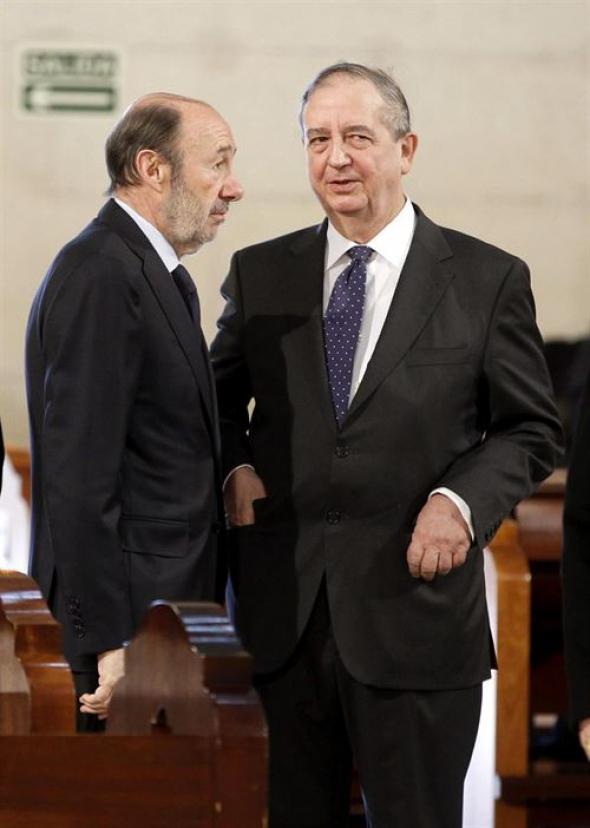 Rubalcaba y Anasagasti funeral 11M 2014