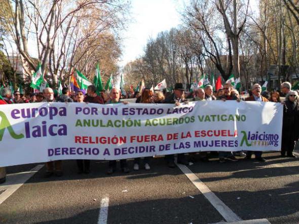Marcha Dignidad 22M Europa Laica 2