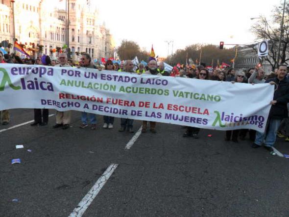 Marcha Dignidad 22M Europa Laica 6