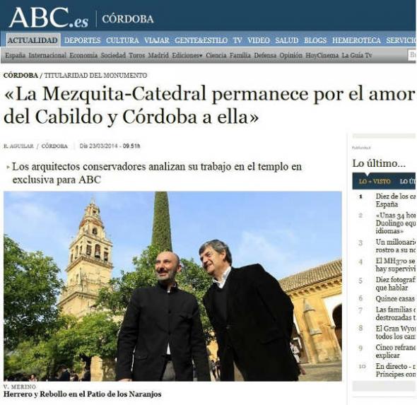 mezquita de Córdoba en ABC 2014