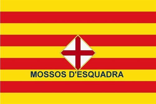 bandera Mossos con cruz 2014
