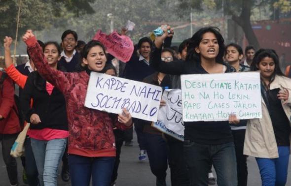 protesta abusos sexuales India 2014
