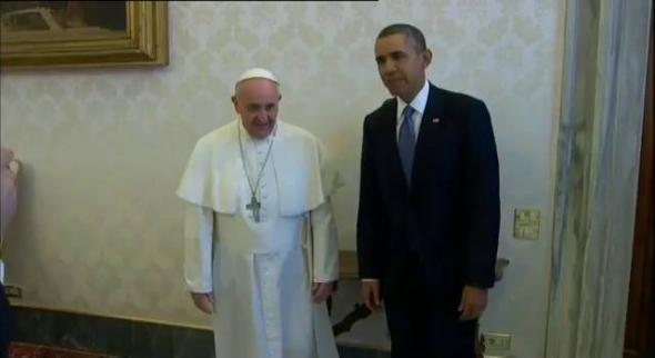 Bergoglio y Obama