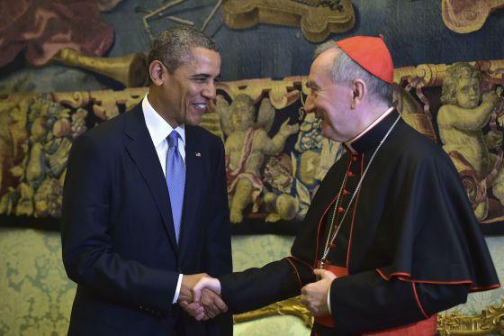 Pietro Parolin y Obama