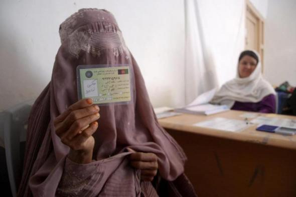 mujer burka elecciones Afganistán 2014